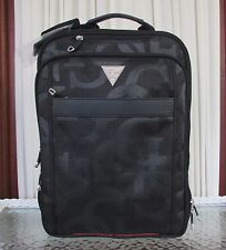 GUESS Computer Laptop Backpack Expandable Travel Bag Luggage Amador Black NWT