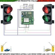 SEMAFORO RAMPA GARAGE 2 LUCI ROSSA VERDE 1 CENTRALE AUTOMATICO 220 V OMOLOGATO