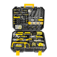 168 Pcs Hand Tool Set General Household Kit with Socket Wrench Screwdriver Knife