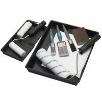 "Harris 9"" Paint Roller Set Complete Decorating Kit + Paint Brushes & Dust Sheet"