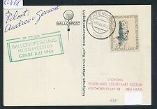 82578) Ballonpost Niederlande sp card Lichtenvoorde 7.7.56, signed