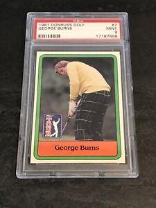 1981 Donruss Golf George Burns PSA 9 MINT Set Break