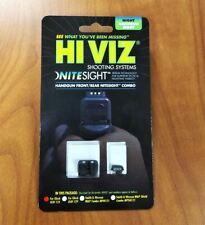 New HiViz NiteSight Front/Rear Sight Combo For Glocks, 40 S&W, 357 Sig Handguns