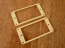 HUMBUCKER PICKUP RING SET FLAT BOTTOM SLANTED IN CREAM