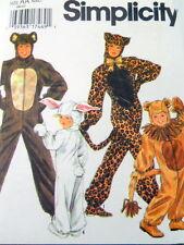 Simplicity Costume Sewing Pattern 9983 Childrens Adult Leopard Lion Rabbit UNCUT