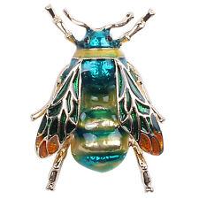 4X(Modische Bumble Bee Crystal Brosche Pin Kostuem Abzeichen Party Schmuck Ge PT
