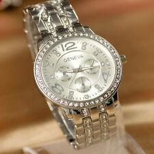 New Fashion Women Quartz Watch Gold Silver Stainless Steel Rhinestone Wristwatch