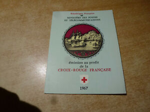 1967 FRENCH MINT STAMPS IN BOOKLET CROIX-ROUGE FRANCAISE