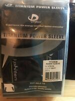 PHITEN TITANIUM POWER SLEEVE PROMOTE RELAXATION,REDUCE STRESS. NAVY LARGE