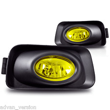2004-2005 Acura TSX JDM Yellow Bumper Fog Lights Full Kit Front Driving Lamp SET