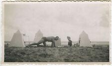 PHOTO ANCIENNE - VINTAGE SNAPSHOT - MER PLAGE JEU ST JEAN DE MONTS VENDÉE -BEACH