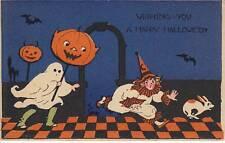 Ghost clown bats checkered floor blue JOLs 1925 9846