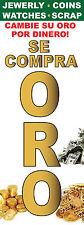 2pc 18''x48'' Se Compra Oro Bandera Sign Vertical Vinyl Pawn Shop Jewelry - 20oz