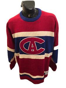 Mens Montreal Canadians Roger Edwards Hockey Sweater  Vintage Logo XL 1913-1917