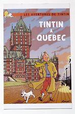 """RARE TINTIN POST CARD """"LES AVENTURES DE TINTIN"""" TINTIN À QUÉBEC -RODIER"""