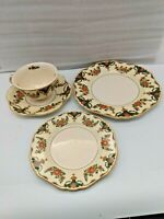 John Maddock & Sons Minerva Cup and Saucer, Bread Plate, Dessert Plate Set