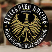 Blitzkrieg Racing Werkshop Sticker Aufkleber Autocollante Aircooled Cox Bug gold