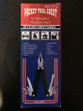 New in Box Pocket Tool Chest 12 Tools in 1 with case