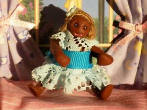 OAAK African American Girl Doll Baby  fits Fisher Price Loving Family Dollhouse