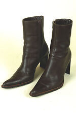 MARIA PINO / ITALY / LUXURY FASHION BOOT IN DARK BROWN / SZ: 35 / EXCELLENT