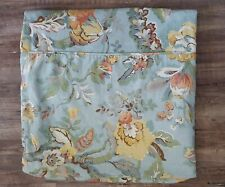 Pottery Barn Vanessa Blue Floral Linen Twin Size Duvet Cover Bedding