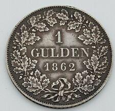 1 Gulden 1862 Maximilian II König von Bayern 12.3.20