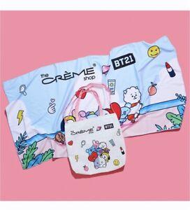 The Crème Shop BT21 Splash Gift Set Beach Bag Tote and Towel- NEW