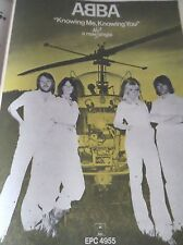 """ABBA  """"KNOWING ME KNOWING YOU"""" ADVERT FROM 1977 FULL PAGE A3 NICE CONDITION"""