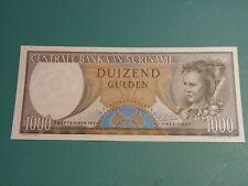 1963 SURINAME NETHERLANDS 1000 GULDEN BANKNOTE. * GEM UNC *