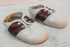Vintage Brown and White Baby Deer Shoes Size 1  Made in USA