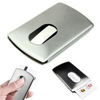 Men's Wallet Business Stainless Steel Name Credit ID Card Holder Pocket Case