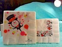 "Vintage Hallmark Christmas & New Year Napkins 2 Sealed Packs 10""X10"" 13.5""X13.5"""