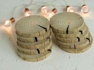 1-100 pcs10cm Driftwood Slices Rustic Wedding Table Wall Craft Pyrography Decor