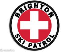"4"" BRIGHTON SKI PATROL HELMET CAR BUMPER DECAL STICKER MADE IN USA"