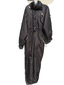 Post Card Green Ensign Black - One Piece Snow Suit Mens - Tuck Away Hood 50 Med