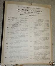 Les armées françaises dans la Grande Guerre Tome VIII Armée d'Orient  23 Cartes
