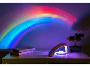 Lampada proiettore Luce Arcobaleno LED Rainbow Cristallo Design Tavolo Scrivania