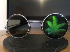 Occhiali DA SOLE VINTAGE MODELLO FOGLIA nella lente sinistra festa di Halloween divertente Cosplay