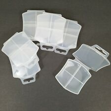 Lot of 6 Containers 4 Compartment Plastic Craft Storage Organizer Beads Jewelry
