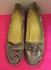 Easy Spirit Maeli Faux Snakeskin Leather Loafers Shoes Sz 11 M