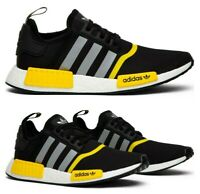 New adidas NMD R1 Mens sneaker black yellow size 8.5