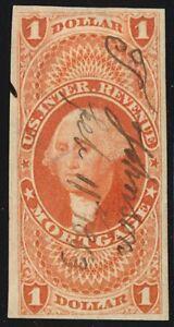 R73a, $1 Mortgage Revenue Stamp Superb Four Margin GEM - Stuart Katz