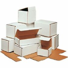 100 -10 x 4 x 4 White Corrugated Shipping Mailer Packing Box Boxes