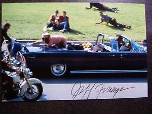 JEFF FRANZEN Hand Signed Autograph 4X6 PHOTO -6 YR OLD JFK ASSASSINATION WITNESS