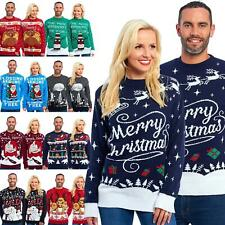 Christmas Xmas Jumper Sweater Retro Novelty Knitted Unisex Mens Womens Jumpers
