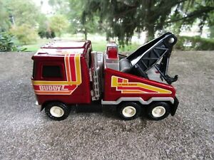 Vintage Diecast Buddy L Mack Tow Truck Wrecker 1980- Tow Works- Made in Japan