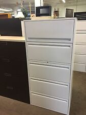 """5Dr 30""""W LATERAL FILE CABINET by HAWORTH OFFICE FURNITURE w/ LOCK & KEY"""