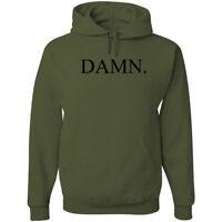 Kendrick Lamar DAMN Black Logo Hoodie Hip Hop Sweatshirt merch Military Green
