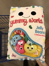 """Jelly Beans Yummy World Plush With 5 Scented 4"""" Jelly Beans - NEW With Tags"""