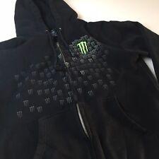 Monster Energy Drink Full Zip Hoodie Sweatshirt Sz S/M Claw Logo Race Motocross